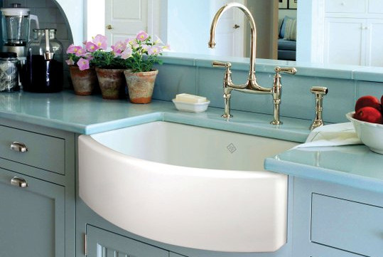 Apron Front Bathroom Sink : ... Custom Designed Kitchens & Bathrooms - The Waterside Apron Front Sink