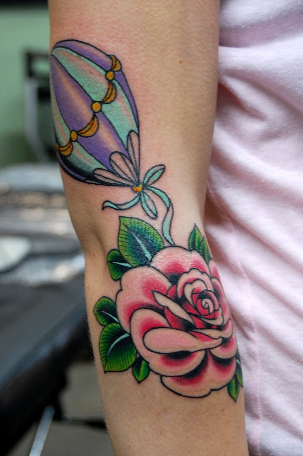 Inkerviews jinxi boo for Neo traditional rose tattoo