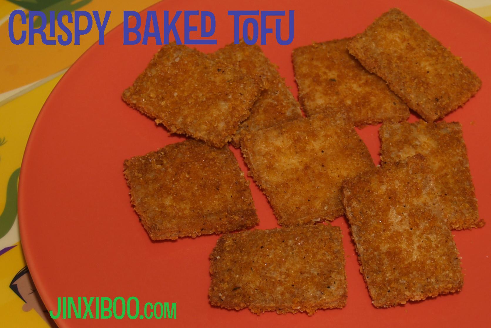 Easy Vegan Crispy Breaded Baked Tofu Recipe - Jinxi Boo - Jinxi Boo