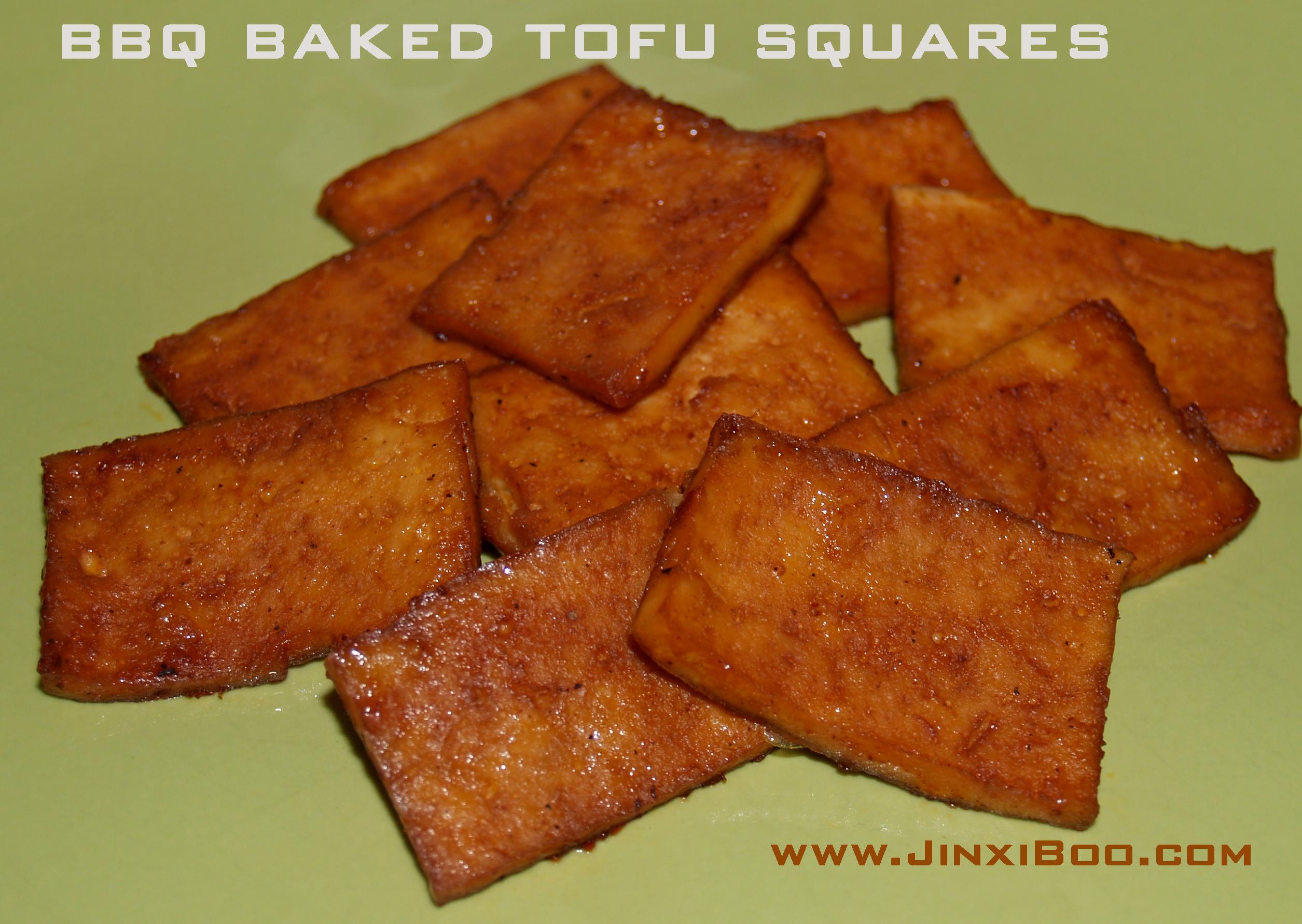 Oven Baked BBQ Barbecue Tofu Easy Recipe - Jinxi Boo - Jinxi Boo