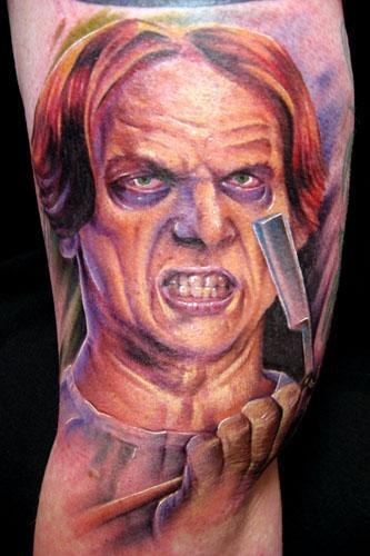 Macabre tattoos magnificent designs the world of gina for Sweeney todd tattoo