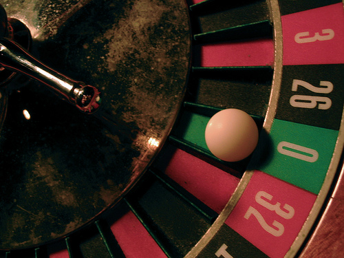 Roulette numbers add to 666