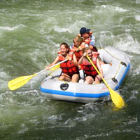 Photo of guests enjoying Brookside Campground & Rafting