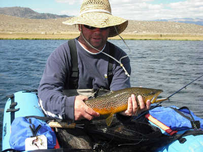Frank Seifert witha nice brown trout