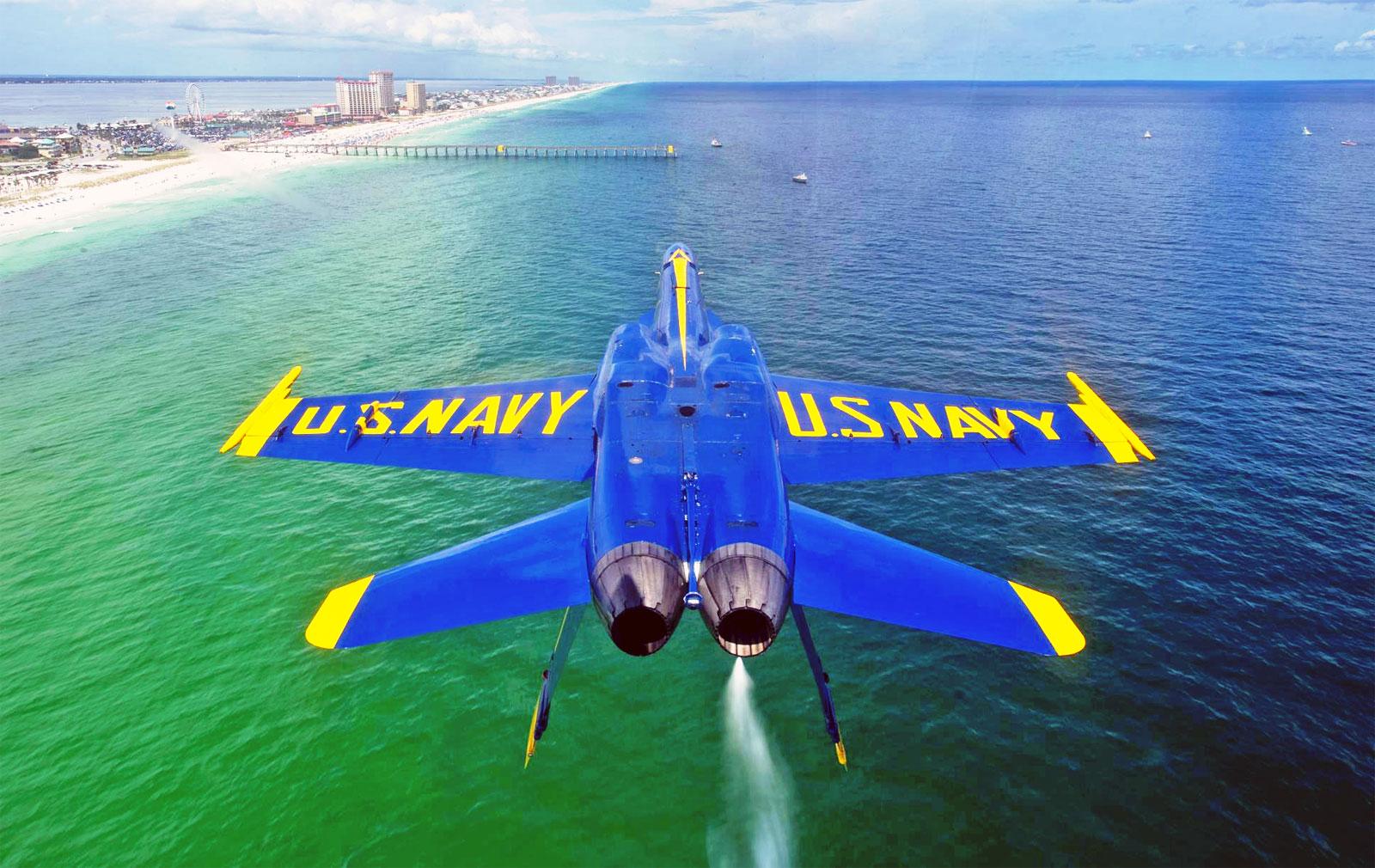 Coolpix The Flipped Blue Angels Pensacola Beach Desktop
