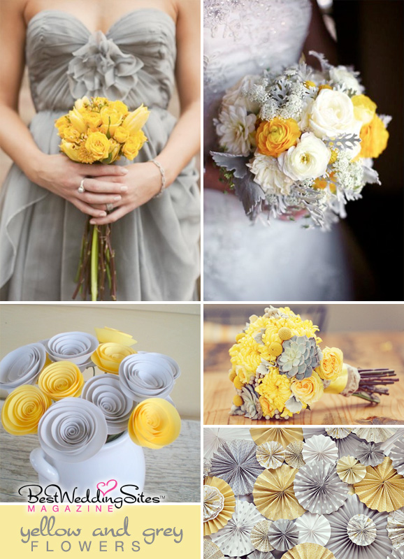 Best wedding sites wedding planning directory and guide for today i wanted to share with you some amazing flower inspiration in greys and yellows some real and some made with paper that are equally as stunning mightylinksfo