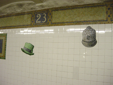 23rd St. Mosaic Hat Station