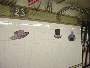 23rd St Mosaic Hat MTA Station