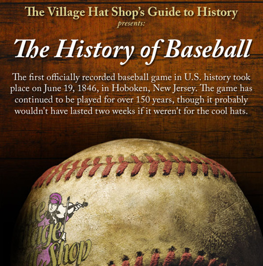 a history on baseball caps from the hat shop