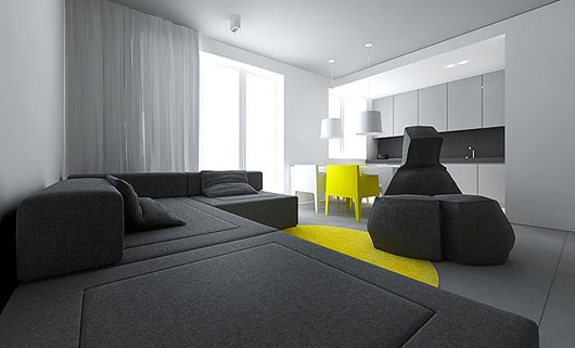 Modern Small Flat Interior Design by Tamizo Architects ...