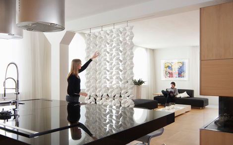 Contemporary Room Dividers Lightfacet divider by Bloomming