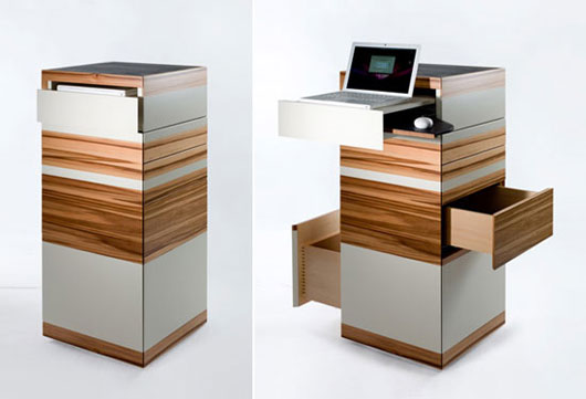 Laptop tower modular office furniture for small space Dresser designs for small space