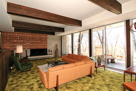 Beautiful mid century home interior in des moines for Interior design inspiration mid century