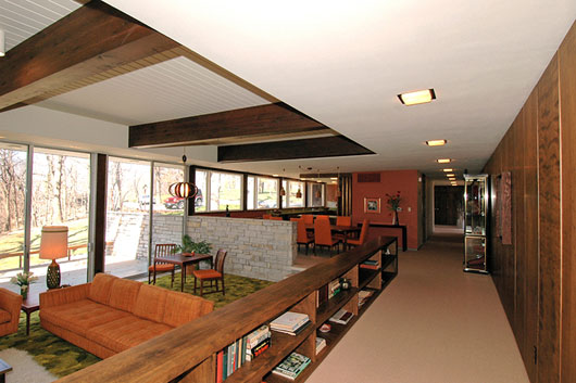 Beautiful mid century home interior in des moines for 1950s modern house design