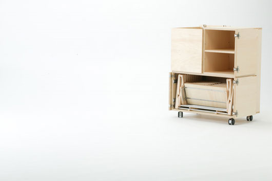 Space saving mobile dining table from link design for Table design on mobile