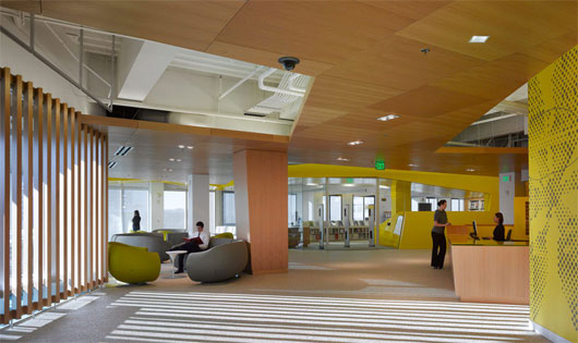 Modern college interior design by clive wilkinson for Interior design institute