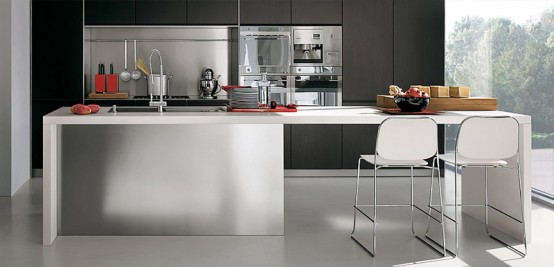 Contemporary kitchen with modular work island el 01 by for Modern kitchen designs 2009