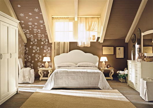 english country style bedroom interior from arredamento