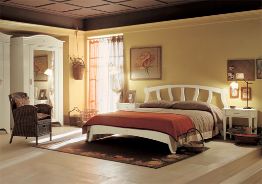 English country style bedroom interior from arredamento for English bedroom ideas