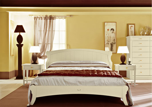 English country style bedroom interior from arredamento for Arredamento english