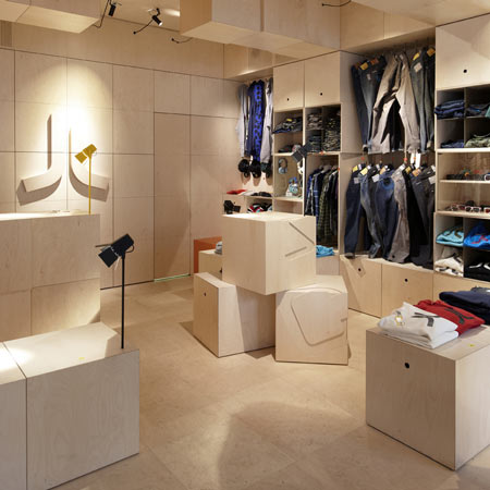 wesc concept store by arkitekturverkstedet i oslo designtodesign magazine. Black Bedroom Furniture Sets. Home Design Ideas