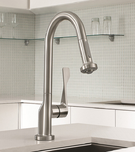 Commercial Style Kitchen Faucet New Axor Citterio Prep Faucet By