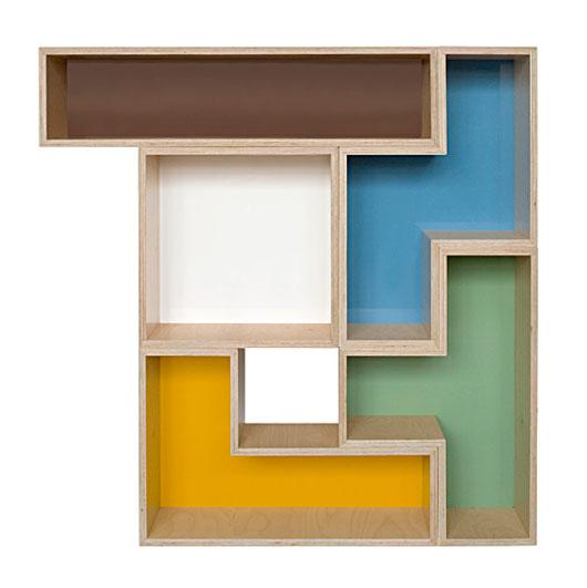 Modular tetris shelves for unique and trendy interior for Tetris bookshelf