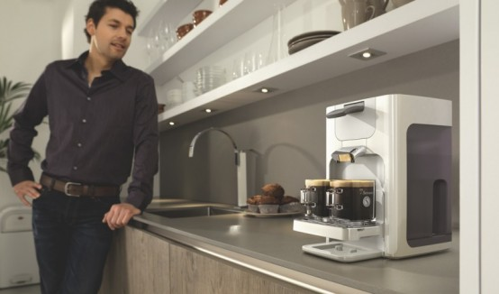 new senseo coffee machine quadrante by philips designtodesign magazine. Black Bedroom Furniture Sets. Home Design Ideas