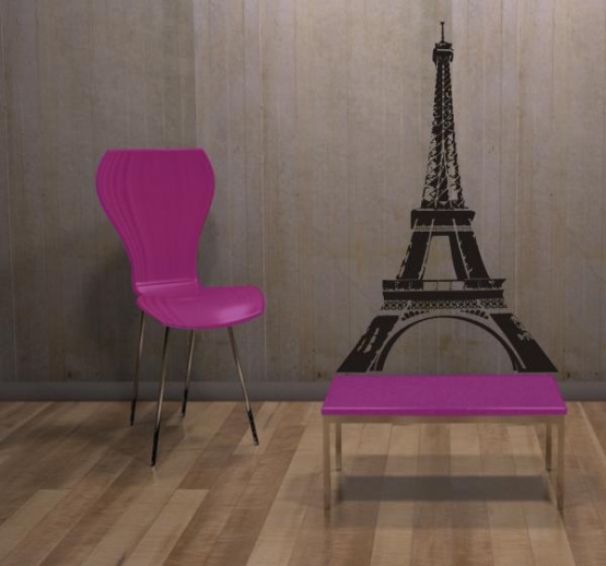 cool paris themed room ideas and items designtodesign magazine the. Black Bedroom Furniture Sets. Home Design Ideas