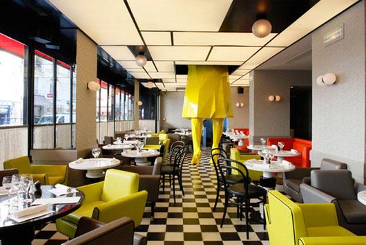 Germain parisian restaurant interior design by india