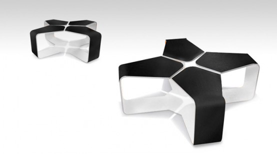 Designtodesign magazine the for Cool modern dining tables