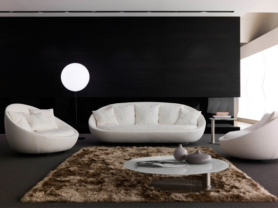 modern living room sofas. You could make you living room modern and at the same time very comfy with  new furniture set Lacon by Desiree Divano which is a part of Euromobil group Elegant Sofa for Modern Living Room