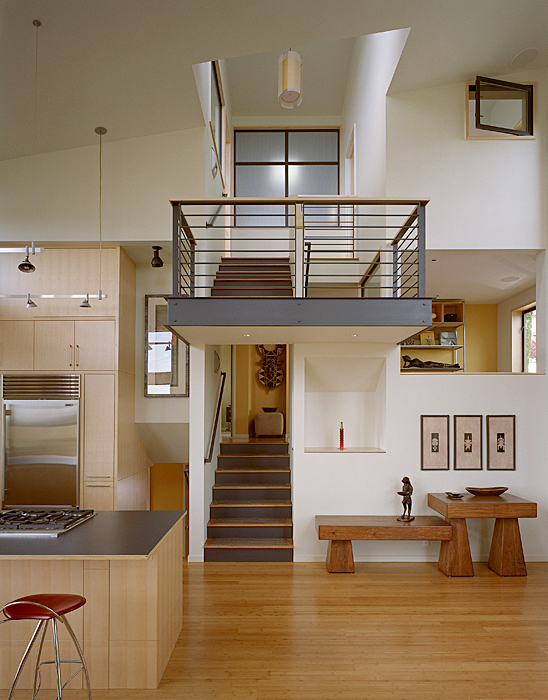 Modern Remodel Of The Post War Split Level House Into A Five Level ...