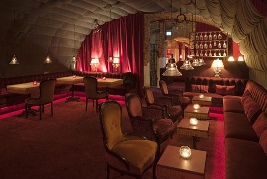 Luxury restaurant interior design le rouge in stockholm