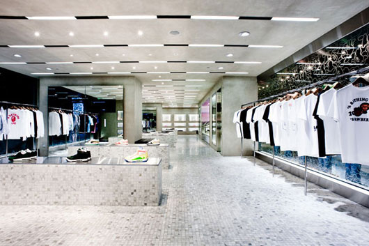 Modern Clothing Store Interior Ideas Bapestore Singapore