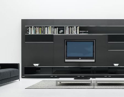 Modern Wall Systems With Lcd Tv Stand Elevenfive From