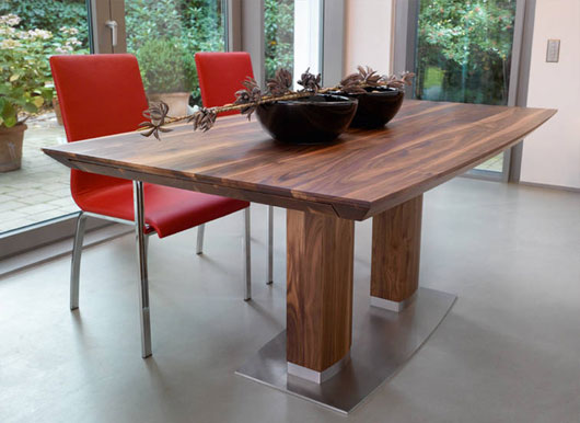 contemporary wooden dining table from rodam designtodesign magazine the. Black Bedroom Furniture Sets. Home Design Ideas