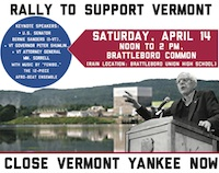 Vermont Yankee Rally flyer