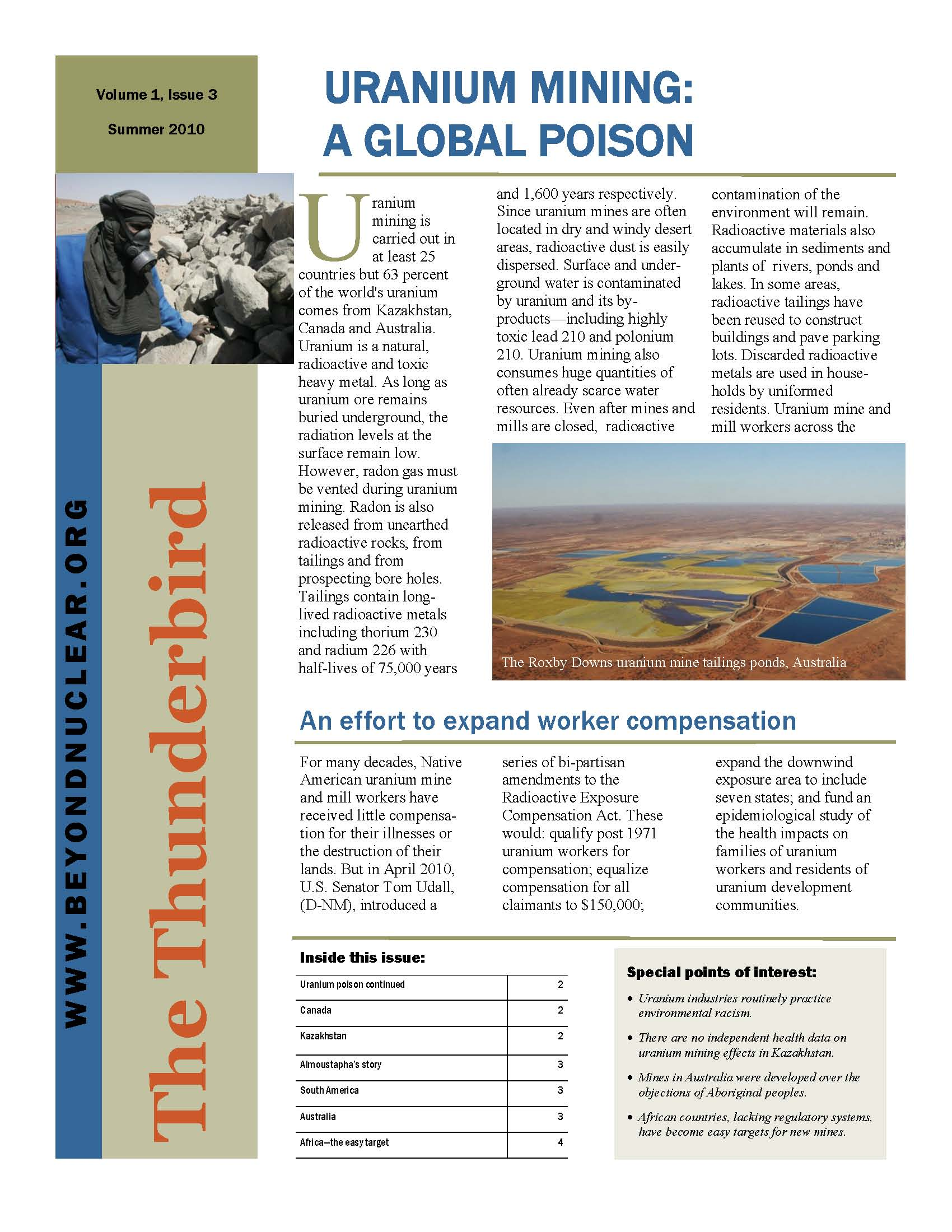 the effects of uranium mining on the environment