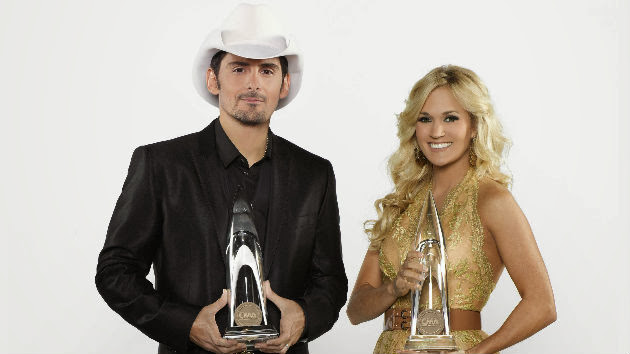 CMA Awards Co-Hosts Brad and Carrie Enjoy Poking Fun at Tim and Faith