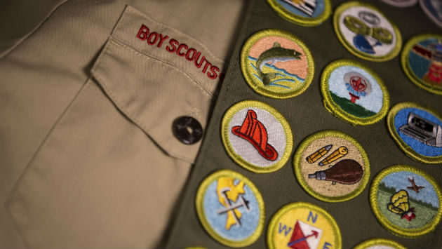 Boy Scout Tops Dad's Total, Earns Most Merit Badges