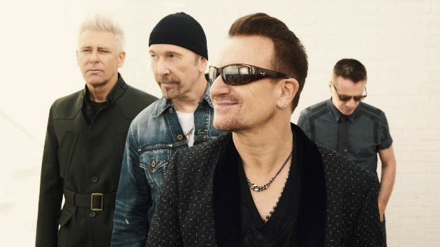 """U2 to Appear on """"The Tonight Show"""" This Week; Bono Seen Rehearsing Potential Bike Accident Sketch"""