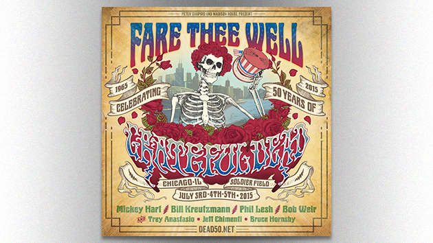 Grateful Dead to Reunite for 50th Anniversary Shows; Phish's Trey Anastasio to Sit In