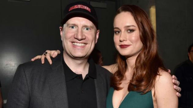 (L-R) Marvel President Kevin Feige,