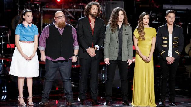 (L-R) Hanna Eyre, Jesse Larson, Johnny Hayes, Josh West, Lilli Passero, Mark Isaiah -- (Photo by: Tyler Golden/NBC)