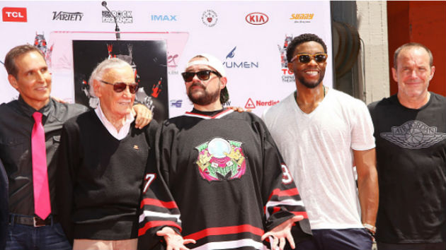 """""""Excelsior!"""" Stan Lee cements his legendary status with Hollywood handprint ceremony"""