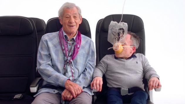 """Watch now: Ian McKellen, Thandie Newton, Gillian Anderson """"audition"""" for British Airways safety film"""