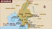 Myanmar's Rohingya Muslims flee to Bangladesh