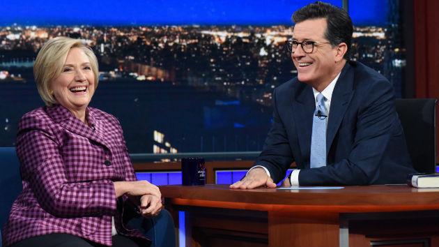 "Hillary Clinton talks tagging polar bears with Vladimir Putin on ""The Late Show with Stephen Colbert"""