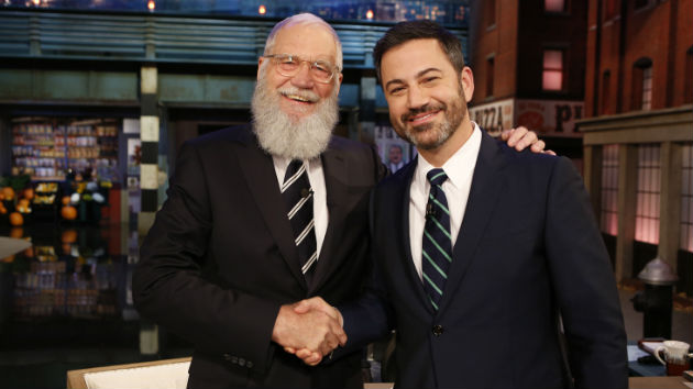 David Letterman returns to late night, sets Jimmy Kimmel straight on Conan O'Brien's crazy horse story
